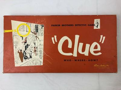 Clue Board Game 1949/1950 REPLACEMENT PARTS ONLY YOU CHOOSE YOUR PART