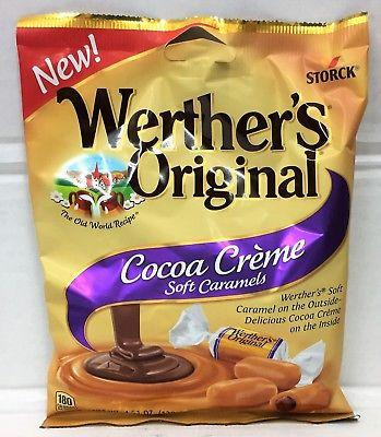 Storck Werther's Original Cocoa Creme Soft Caramels 4.51 oz Werthers