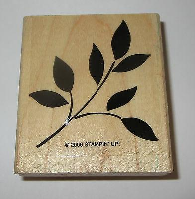Branch Leaves Rubber Stamp Stampin' Up! Retired Best Blossoms Wood Mounted