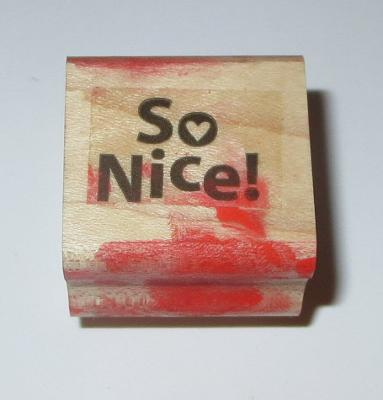 So Nice Rubber Stamp Stampin' Up! Wood Mounted Heart Sayings #3