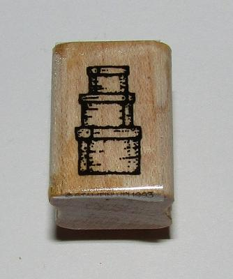 Stacked Nesting Boxes Rubber Stamp Stampin Up Retired Wood Mounted 1""