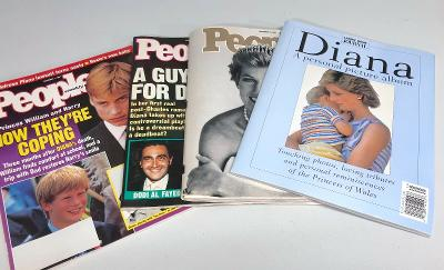 Lot of Four 4 Princess Diana Commemorative Magazines People