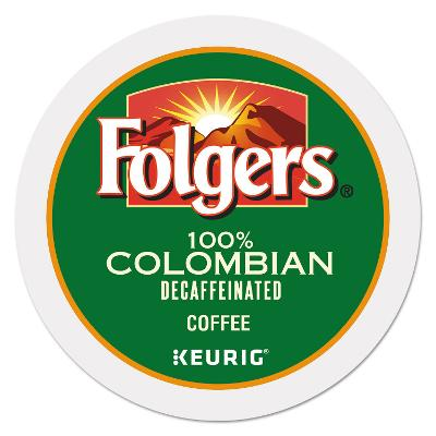 Folgers 100% Colombian Decaffeinated Coffee 24 to 144 Keurig Kcups Pick Any Size