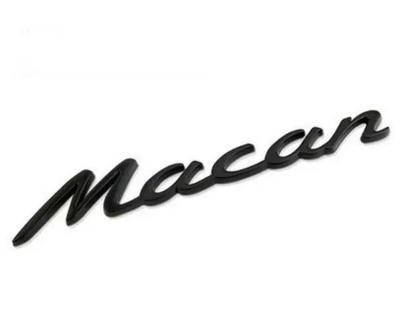 OE Porsche Macan Black badge emblem for rear boot trunk