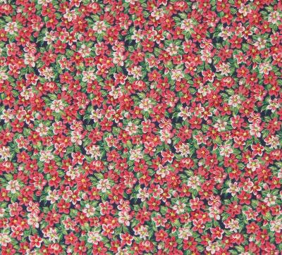 """Pink Flowers Cotton Fabric 34"""" x 41"""" Flowers The Kesslers for Concord Fabrics"""