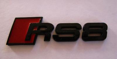 Audi RS8 Black Rear Boot Emblem Badge