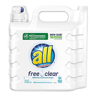 all Liquid Laundry Detergent, Free Clear for Sensitive Skin, (Free Clear, 237 Fl