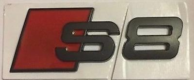 Black Audi S8 rear boot emblem badge