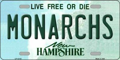 Monarchs New Hampshire Novelty Metal License Plate