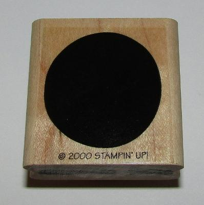 """Circle Background Rubber Stamp Stampin Up Retired Wood Mounted 1.5"""" High"""