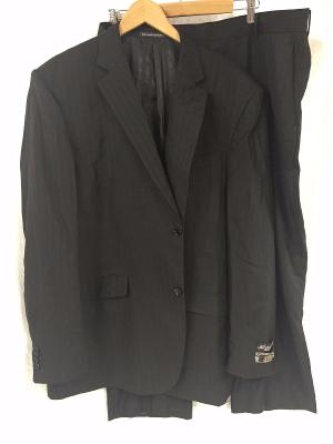 GULLIANO COUTURE St. Angelo Polyester/Rayon Blend Pinstripe SUIT 48/42 (42W/27L)