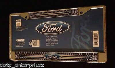 NEW Chroma Graphics Ford Chrome Auto Car Truck License Plate Tag Frame 6419