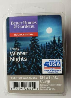 Better Homes & Gardens Holiday Edition Frosty Winter Nights Wax Cubes 2.5 oz