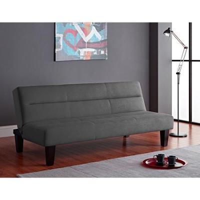 Gray Convertible Futon Sofa Bed Living Room Small Space Furniture College Dorm