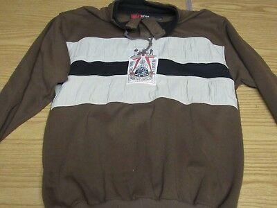 """Today's News Men's L Brown """"Sports International"""" Button Jacket/Pullover Vintage"""