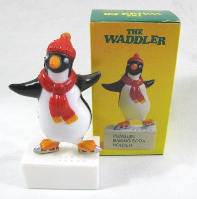 Vintage New Penguin Baking Soda Holder the Waddler Fridge Odor XMas Gag Gift