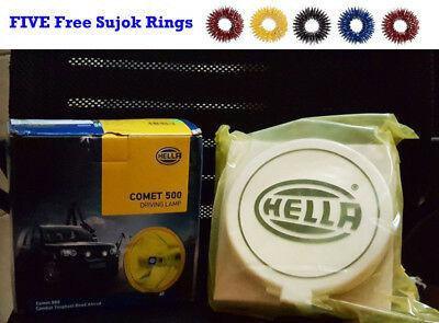 Hella Comet 500 iving Lamp Yellow Spot Light Unit + Cover Universal Fit