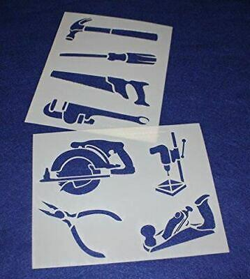 """Mylar 2 Pieces of 14 Mil 8"""" X 10"""" Tools Stencils- Painting /Crafts/ Templates"""