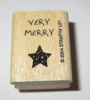 Very Merry Rubber Stamp Star Christmas Stampin' Up! Holidays Mini