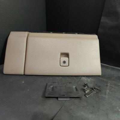 Glove Box Storage Compartment with Catch and Screws Assembly, Tan, Plastic