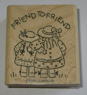 Friend To Friend Rubber Stamp Stampin' Up! Friendship Girls Hats Dresses #2