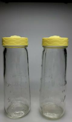 VINTAGE HYGEIA SCREW TOP GLASS BABY BOTTLES BY BALL SET OF 2