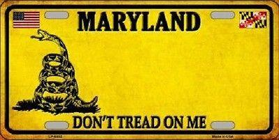 Maryland Don't Tread On Me Novelty Metal License Plate
