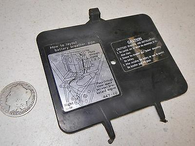 80 YAMAHA XS650 SPECIAL XS650SG LOWER BOTTOM SEAT COVER REGISTRATION HOLDER LID