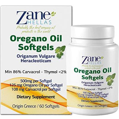 Zane Hellas Oregano Oil Softgels. The Highest Concentration in The World. Every