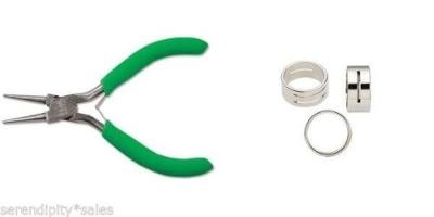 """TOOL SET: Jump Ring Opener Closer w/ Slots + Pair of Round Nose Pliers 4-1/2"""" L"""