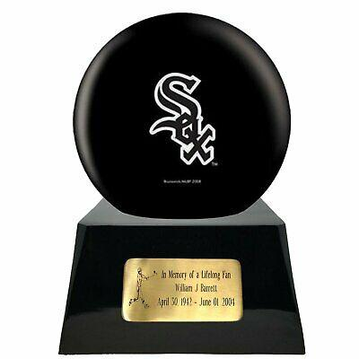 Large/Adult 200 Cubic Inch Chicago White Sox Metal Ball on Cremation Urn Base