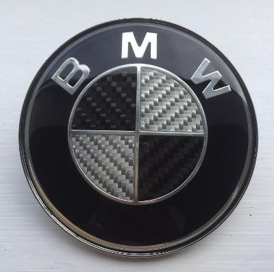 BMW Carbon 82mm Bonnet Boot badge emblem 2 pins fitting for various BMW models