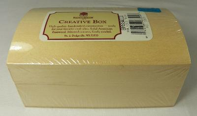 """Walnut Hollow Basswood Rounded Trunk 6 x 3 x 3-5/8"""" NIP Wood for Crafts USA"""