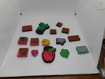 Mixed Lot of 16 used Stamps Scrapbooking Art Crafts