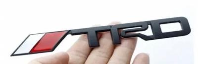 Black TRD rear boot emblem badge