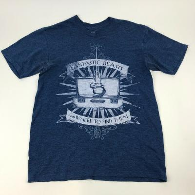 FANTASTIC BEASTS And Where to Find Them BLUE Graphic Tee Heathered TShirt Sz S