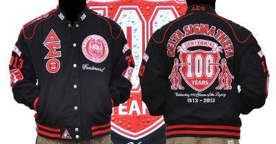 Delta Diva Twill Sorority Jacket DST 1913 100 YEAR CENTENNIAL JACKET OOO-OOP