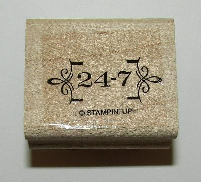 """24-7 Rubber Stamp Flowers Stampin Up Wood Mounted 1.5"""" Long"""