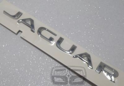 Chrome JAGUAR letters rear boot badge emblem lettering
