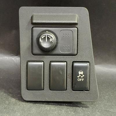 Nissan Power Window and Traction Control Switch Panel Assembly, Black, Plastic