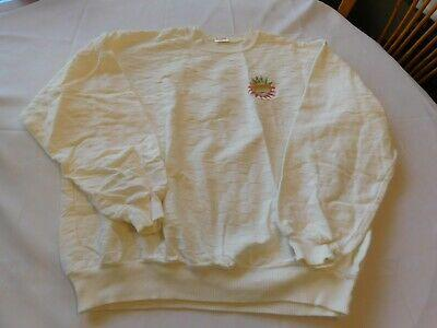 American Born for Winston Women's Size L large shirt top long sleeve Off White