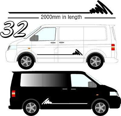 Graphic Decals Self Adhesive Vinyl Stickers Any Vehicle VW Campers Motorhome D32