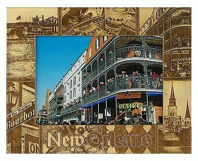 New Orleans Louisiana Laser Engraved Wood Picture Frame (8 x 10)