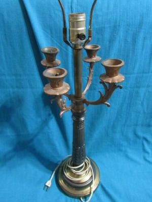 """Vtg Electric Candelabra Lamp with Candle Holders Unique 33"""" High"""