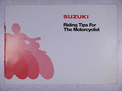 SUZUKI OEM NOS RIDING TIPS FOR THE MOTORCYCLIST GUIDE DRIVER'S OWNER'S MANUAL #3