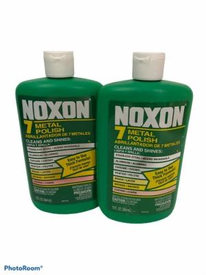 NOXON 7 METALS POLISH Cleaner Stainless Chrome Pewter Brass Bronze Copper 2 Pack