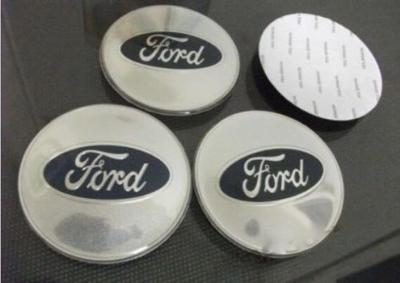 56mm Silver Chrome Ford Wheel Centre Cap Badges Emblems Stickers Adhesive x4