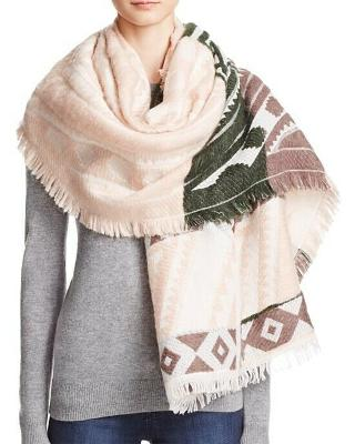 Womens Park Frayed Fringe Scarf LULLA COLLECTION by BINDYA $48 - NWT