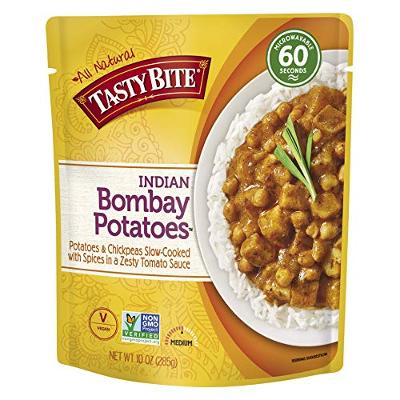 Tasty Bite Indian Bombay Potatoes, Microwaveable Ready to Eat Entre, 10 Ounce (