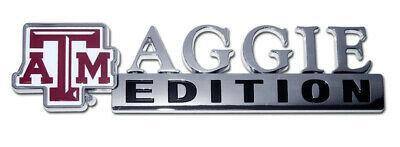 Texas A&M (Aggie Edition) Chrome Auto Emblem - Oversized